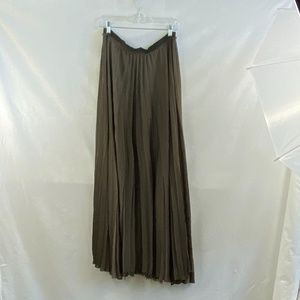Enza Costa Taupe Silk pleated skirt - M
